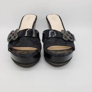 """Coach Geri Size 7B Wedge Sandal 3.5"""" Heel"""